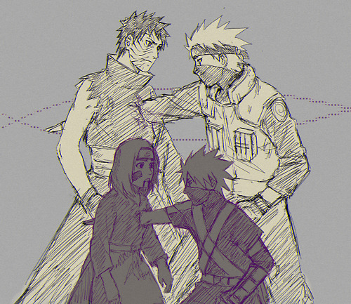 Kakashi Hatake, Obito Uchiha and Rin
