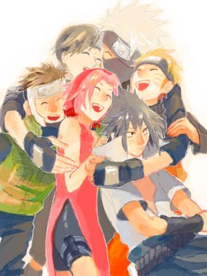 kakashi Hatake, Yamato, Sai, Naruto, Sakura and Sasuke