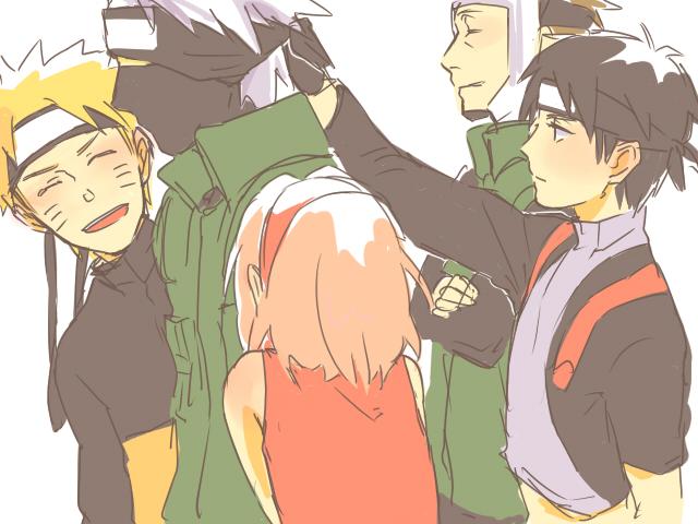 Kakashi, Yamato, Sai, Naruto and Sakura