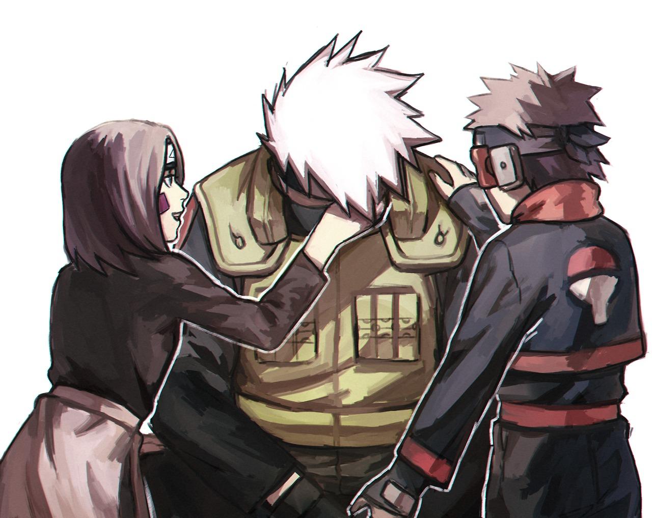 Kakashi hình nền with anime called Kakashi, Rin and Obito
