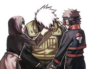 Kakashi, Rin and Obito