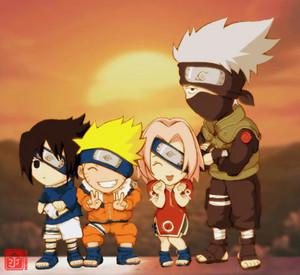 Kakashi, Naruto, Sasuke and Sakura