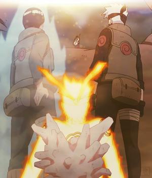 Kakashi, Naruto and Gaï