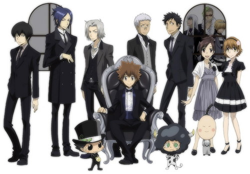 Katekyoushi Hitman Reborn! wallpaper containing a business suit and a well dressed person entitled Vongola Family in suits