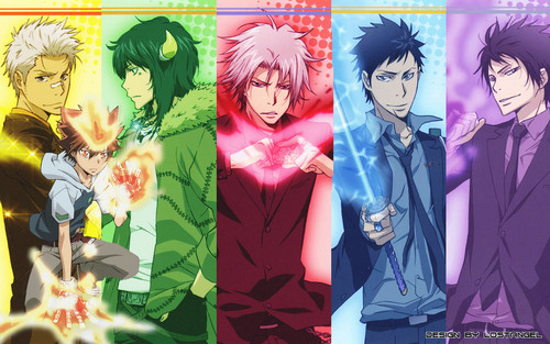 Katekyoushi Hitman Reborn! wallpaper probably containing animê titled TYL Guardians