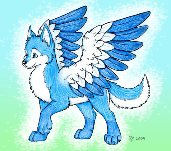 L B J Images Dog With Wings Drawing Wallpaper And Background Photos
