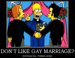 Simpsons pro gay marriage