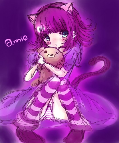League of Legends wallpaper possibly with anime titled Annie Cute
