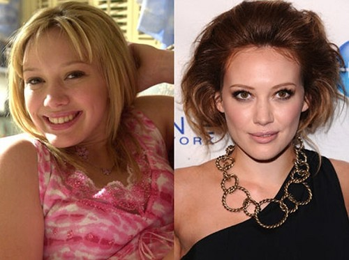 Lizzie McGuire fondo de pantalla probably with a portrait entitled Hilary Duff: Then and Now