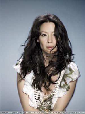 루시 루 바탕화면 containing a portrait titled Lucy Liu Photoshoot