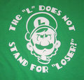 That's right Luigi, the l doesn't stand for loser. - luigi photo