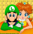 Just a very good drawing of Luigi and margherita