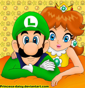 Just a very good drawing of Luigi and Daisy
