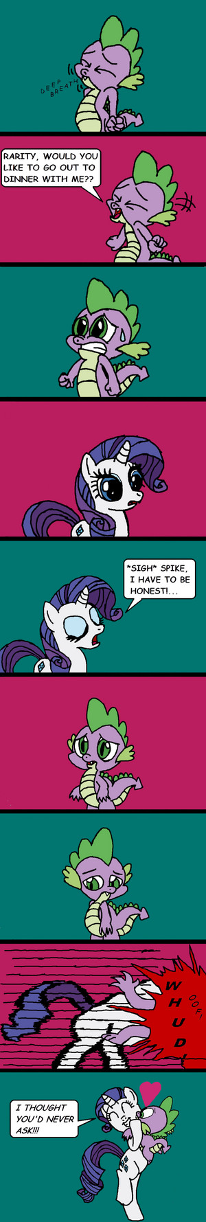 Spike Asks Rarity Out