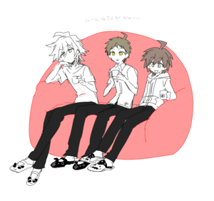 Komaeda, Hinata, and Naegi