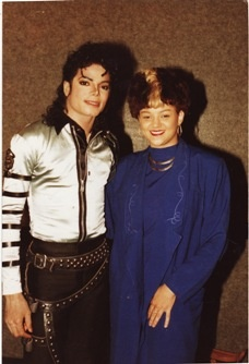 Michael Backstage With Stacy Lattisaw