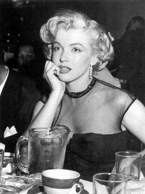 Marilyn Monroe at restaurant Ciro's-1951