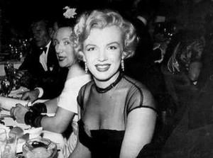 Marilyn Monroe at restaurant Ciro's-1951