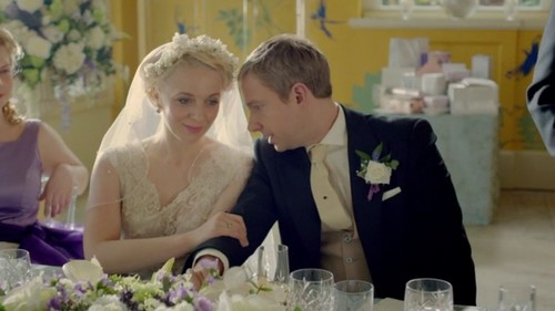 Mary Morstan Watson Hintergrund probably with a bouquet called Mary Morstan Watson 3x02