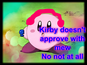 Kirby with dj headsets