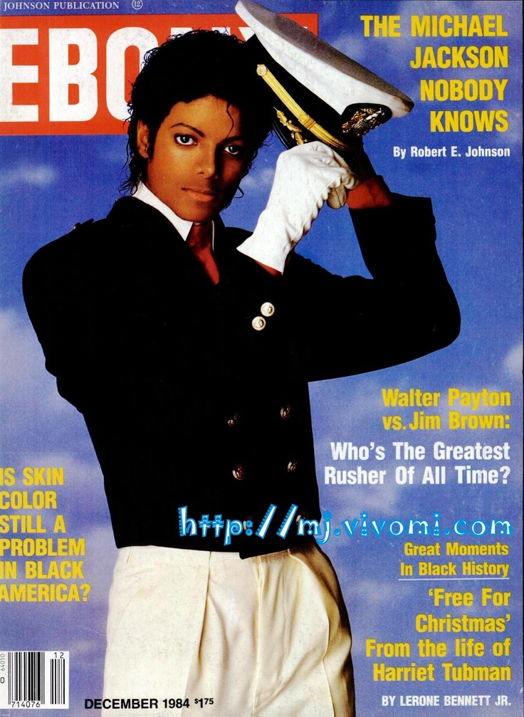Michael On The Cover Of The December 1984 Issue Of EBONY Magazine