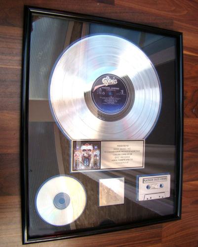 """Michael's Platinum Record For 1991 Classic Recording, """"Dangerous"""""""