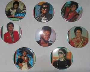 An Assortment Of Michael Jackson Buttons