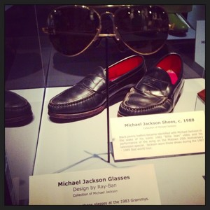 Michael's Sunglasses And Loafers On Display