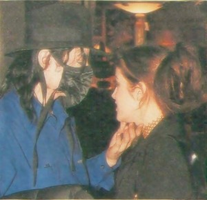 Michael And Lisa Marie Sharing A Tender Moment