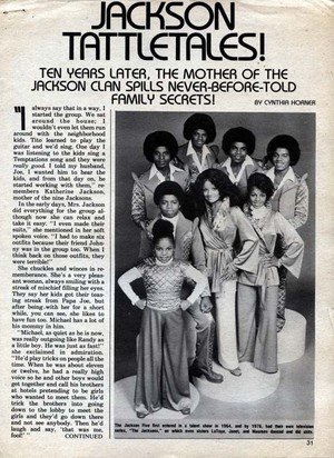 An articolo Pertaining To The Jacksons