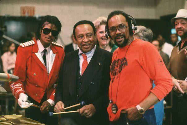 Michael In The Recording Studio With Michael Lionel Hampton And Quincy Jones