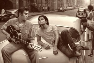MJ and Elvis (photoshop)