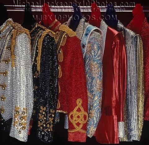 An Assortment Of Michael's Custom-Made Military Jackets