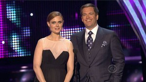Michael Weatherly and Emily Deschanel at Peoples Choice Awards 2013