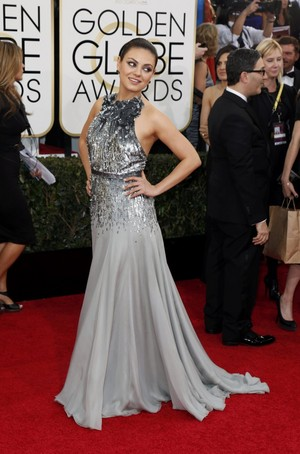Mila Kunis - 71th annual Golden Globe Awards