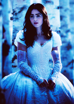 Snow White in the forest.