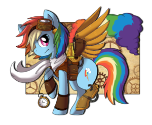 Steampunk pelangi, rainbow Dash