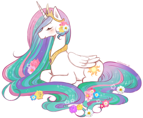 My Little Pony Friendship is Magic wallpaper entitled Celestia and her Beautiful Mane