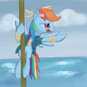Captain pelangi, rainbow Dash