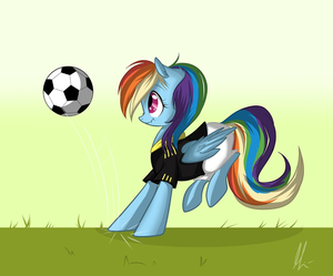 pelangi, rainbow Dash Playing Bola sepak