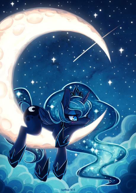 Princess Luna on the Moon