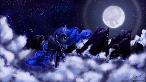 Princess Luna in the Sky