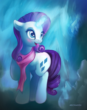Rarity Looking for Gems