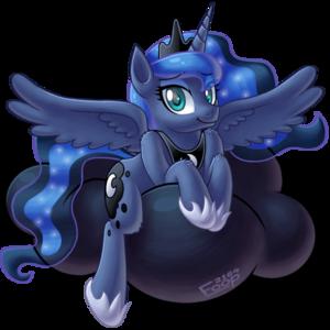 Princess Luna on a wolk