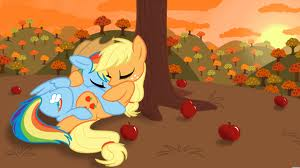 appel, apple Jack and regenboog Dash