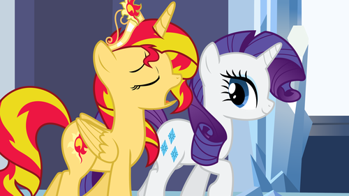 My Little Pony Friendship is Magic wallpaper with anime titled Sunset Shimmer instead of Twilight Sparkle