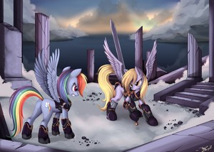 Rainbow Dash and Derpy