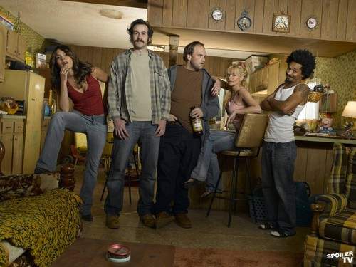 My Name is Earl wallpaper possibly with a drawing room, a living room, and a family room called My Name is Earl - Season 1 Promoshoot