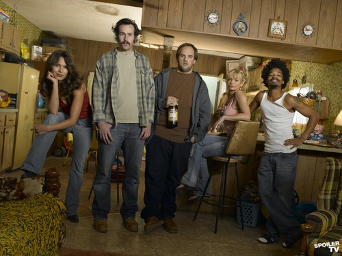 My Name is Earl wallpaper probably containing a packing box and a sign called My Name is Earl - Season 1 Promoshoot