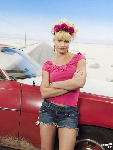 My Name is Earl wallpaper possibly with bare legs, tights, and hot pants titled Jaime Pressly as Joy Turner [Season 4]